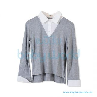 Bearsland gray long sleeve tops BA105 M(1)