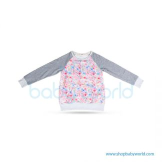 Bearsland gray sleeve+ floral fleece BA447 L(1)