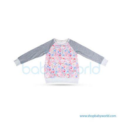 Bearsland gray sleeve+ floral fleece BA447 L(1)