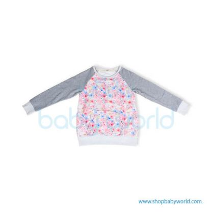 Bearsland gray sleeve+ floral fleece BA447 M(1)