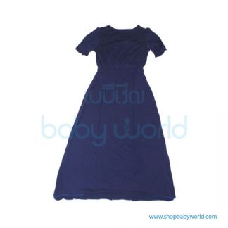 Bearsland navy maxi with lace BB319(1)