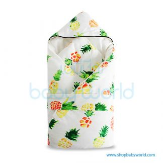 Muslin Tree Newborn Zipped Cuddle Towel Thick - Pineapple 100*100(1)