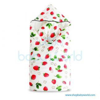 Muslin Tree Newborn Zipped Cuddle Towel Thick - Strawberry 100*100(1)