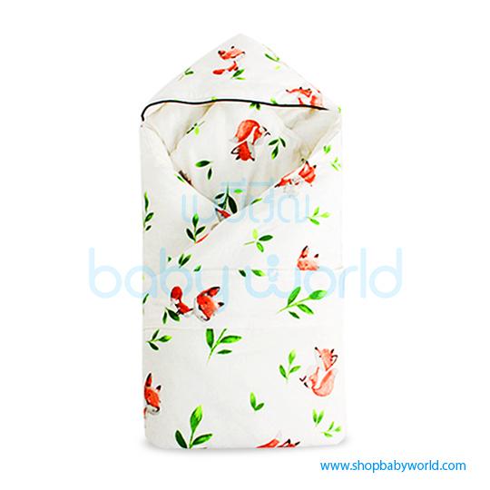 Muslin Tree Newborn Zipped Cuddle Towel - Plant 100*100(1)