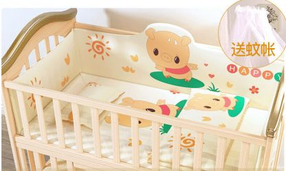 Craft Baby Bedding Set for Wooden Crib LBBS-1 (100*56)