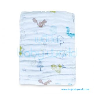Muslin Tree 6 Layers Bath Towel - Squirrel 100*100(1)