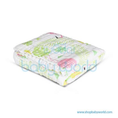 Muslin Tree 6 Layers Bath Towel - Flamingo 100*100(1)