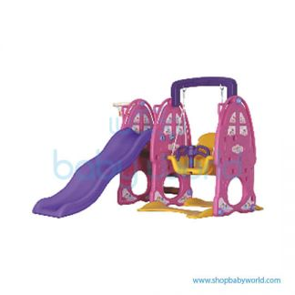 (H) Monle Pink Rabbit Slide Swing 3in1 ML-1809604(1)