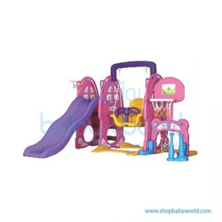 Monle Pink Rabbit Slide Swing 6-in-1 ML-1809606(1)