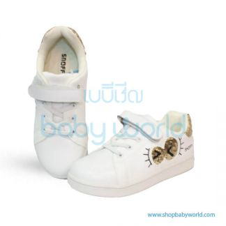 Snoffy Spring Shoes P3AYD18621 White/Gold 32(1)