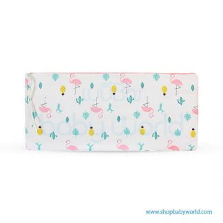 Muslin Tree Crib Bumper - Flamingo(1)
