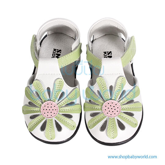 Snoffy Summer Leather Shoes AABB15703 White 21(1)