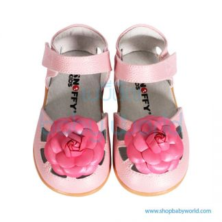 Snoffy Summer Leather Shoes AABB16704 Pink 21(1)
