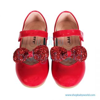 Snoffy Spring Leather Shoes AAQK18615 Red 27(1)