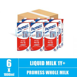 1+1 Promess Whole Milk 1L x 6 (Carton)