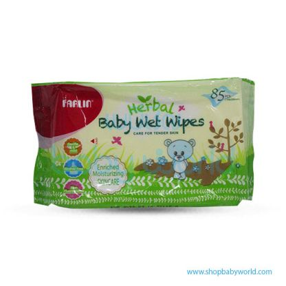 Farlin Wet Wipes Herbal 85pcs X3(1)