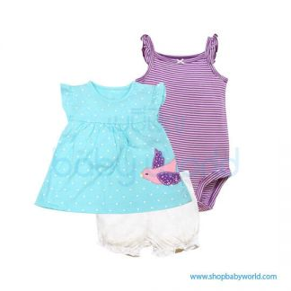 Haowei Baby Girl Cloth 1 Set 66056-B(4)