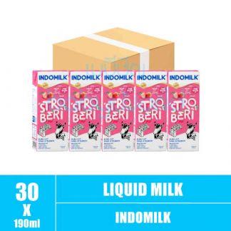 Indomilk Strawberry 5box x 6bot x 190ml (5)CTN