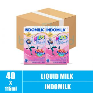 Indomilk Strawberry 10box x 4bot x 115ml (10)CTN