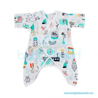 Muslin Tree Body Suits - Alphabets 0-6m(1)