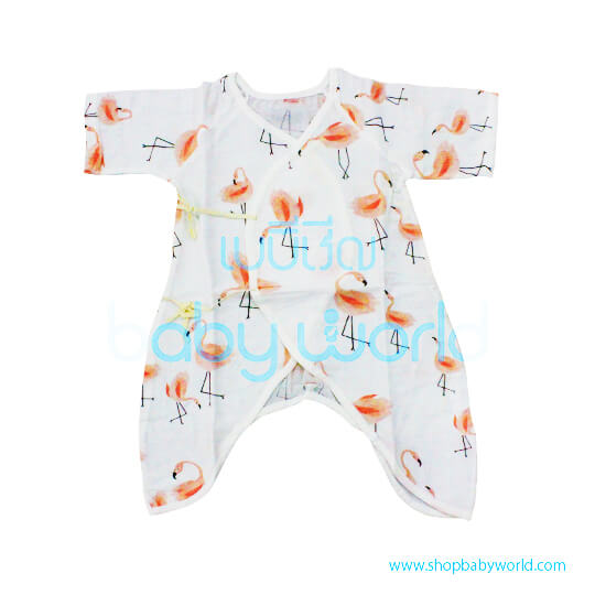 Muslin Tree Body Suits - Flamingo 0-6m(1)