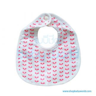 Muslin Tree Baby Bib - Red Dots(1)