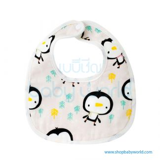 Muslin Tree Baby Bib - Penguins(1)
