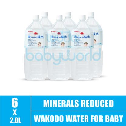 Wakodo Water For Baby (Minerals Reduced) 2L (6)(CTN)