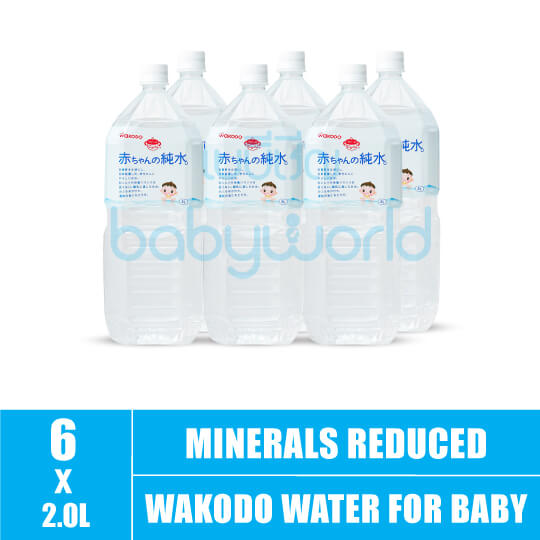 Wakodo Water For Baby (Minerals Reduced) 2L (6)CTN