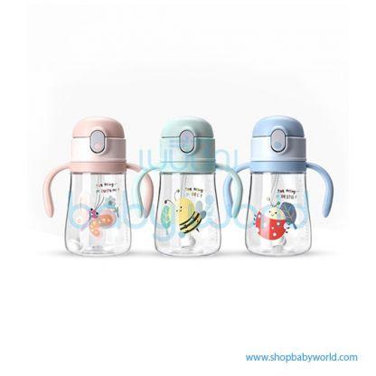 Diller plastic bottle 8847 (green, blue, pink) 350ml