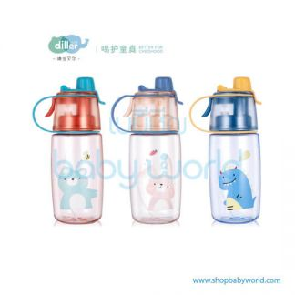 Diller plastic bottle 8848 (red, pink, blue) 600ml