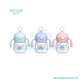 Diller plastic bottle 8835 (green, blue, pink) 280ml