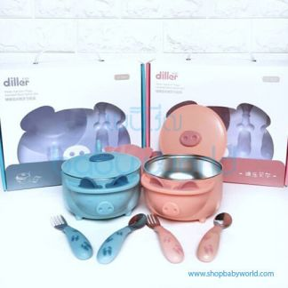 Diller tableware set C-D01 ( pink, blue)