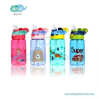 Diller plastic bottle 8834 (green, blue, purper, pink) 500ml