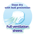 Stays dry with leak prevention