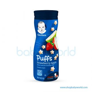 Gerber Baby Puffs Snack Stawberry +Apple 42g 8Months+ (6)