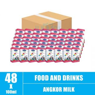 Angkor Milk Strawbery (1x4) 110ml(48)CTN