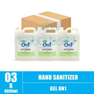 Hand Sanitizer Gel On1 4L (3) CTN