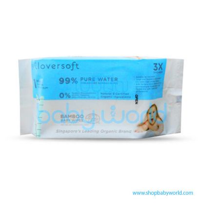 Cloversoft Pure Water Baby Wipes 40's (30)