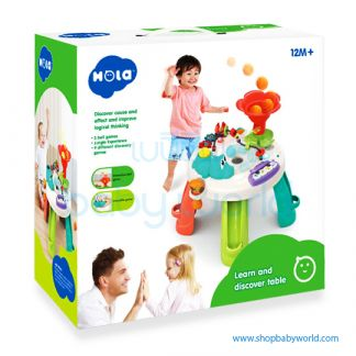 Hola Learn and Discover Table with 3 ball games, 9 discover games, music, light and sound effects E8999 (3)