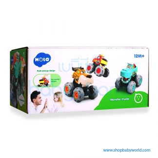 Hola Monster Trucks Gift Set with pull back, friction power, free wheel function A3151 (24)