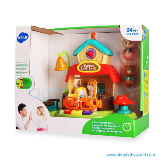 Hola Toy Kindergarten with toy figures, music, songs and sound effects E935 (6)
