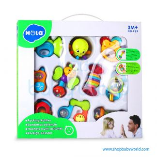 Hola Rocking Rattles 10 models assorted/10 pcs in box 939 (12)