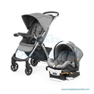 Chicco Mini Bravo Plus Travel System - Slate 00079660040070