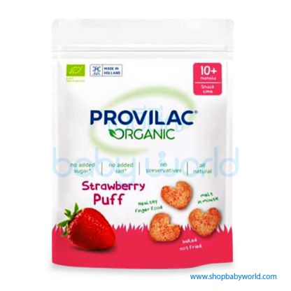 PROVILAC Organic Baby Strawberry Puff 10M+ 25g (6)